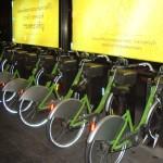 ponto de aluguel de bicicletas em Bancok