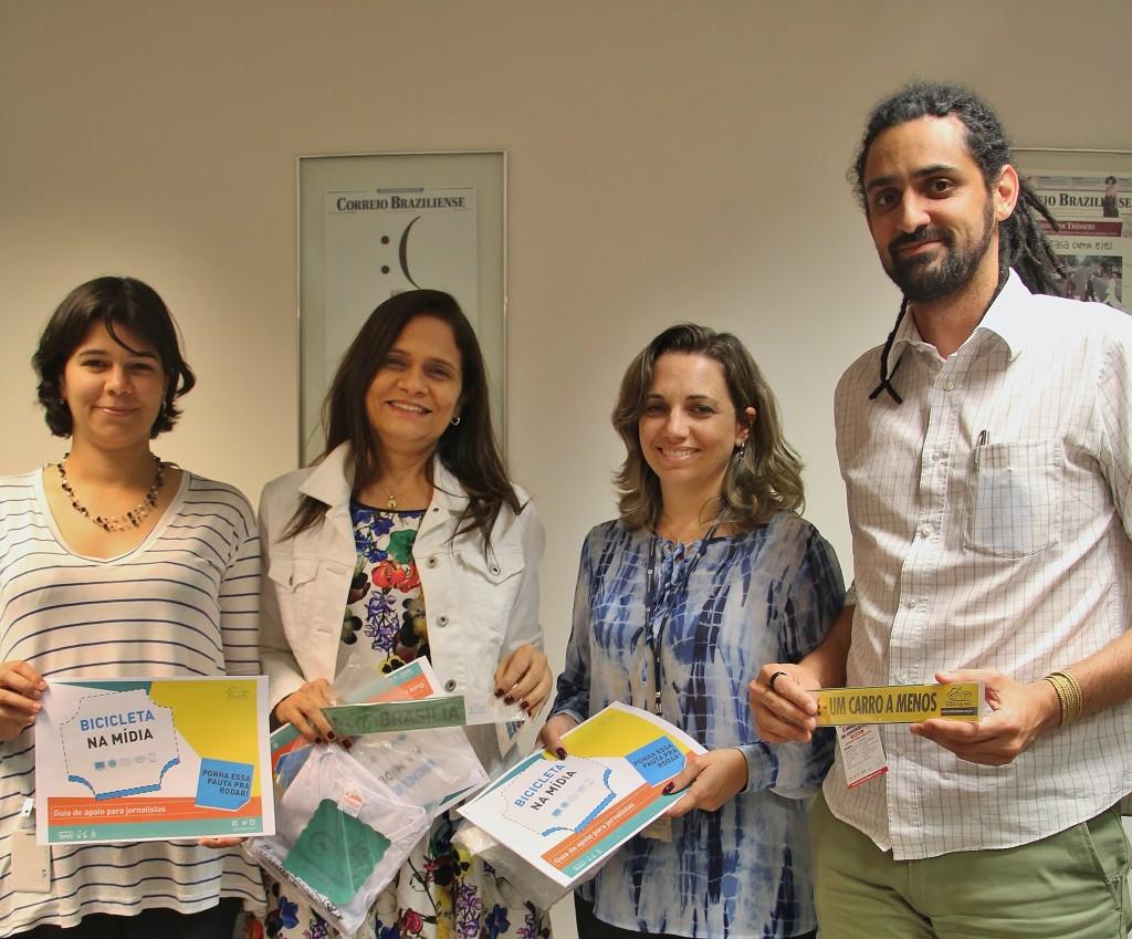 Renata Florentino (Rodas da Paz), Ana Dubeux (Editora-Chefe do Correio), Cristine Gentil (Revista do Correio) e Jonas Bertucci (Rodas da Paz).