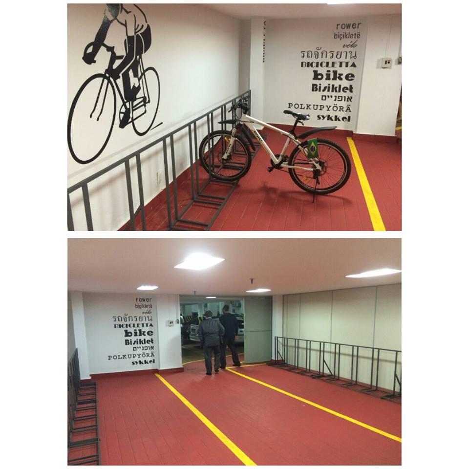 Bicicletário no Ministério da Justiça